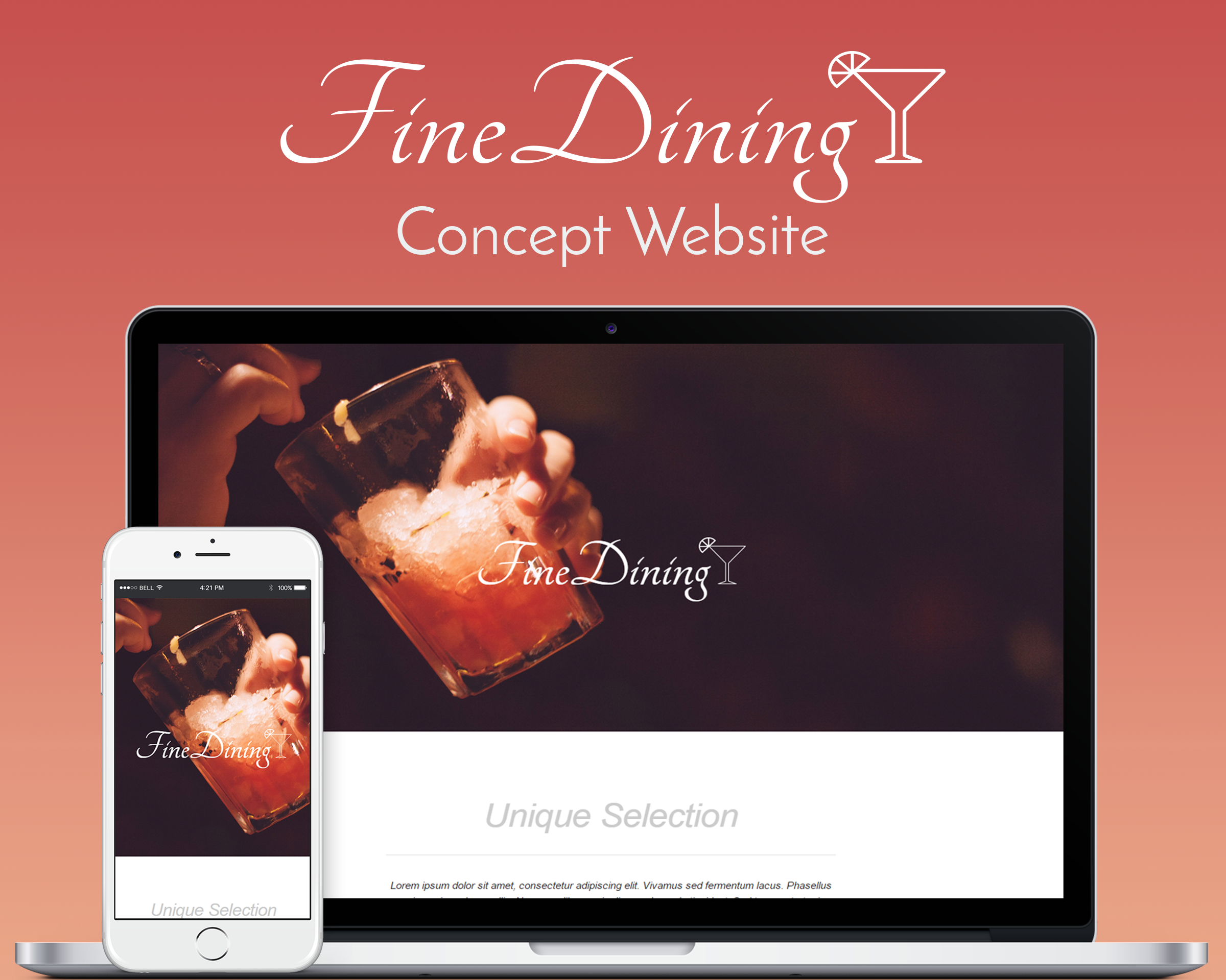 FineDining Concept Website