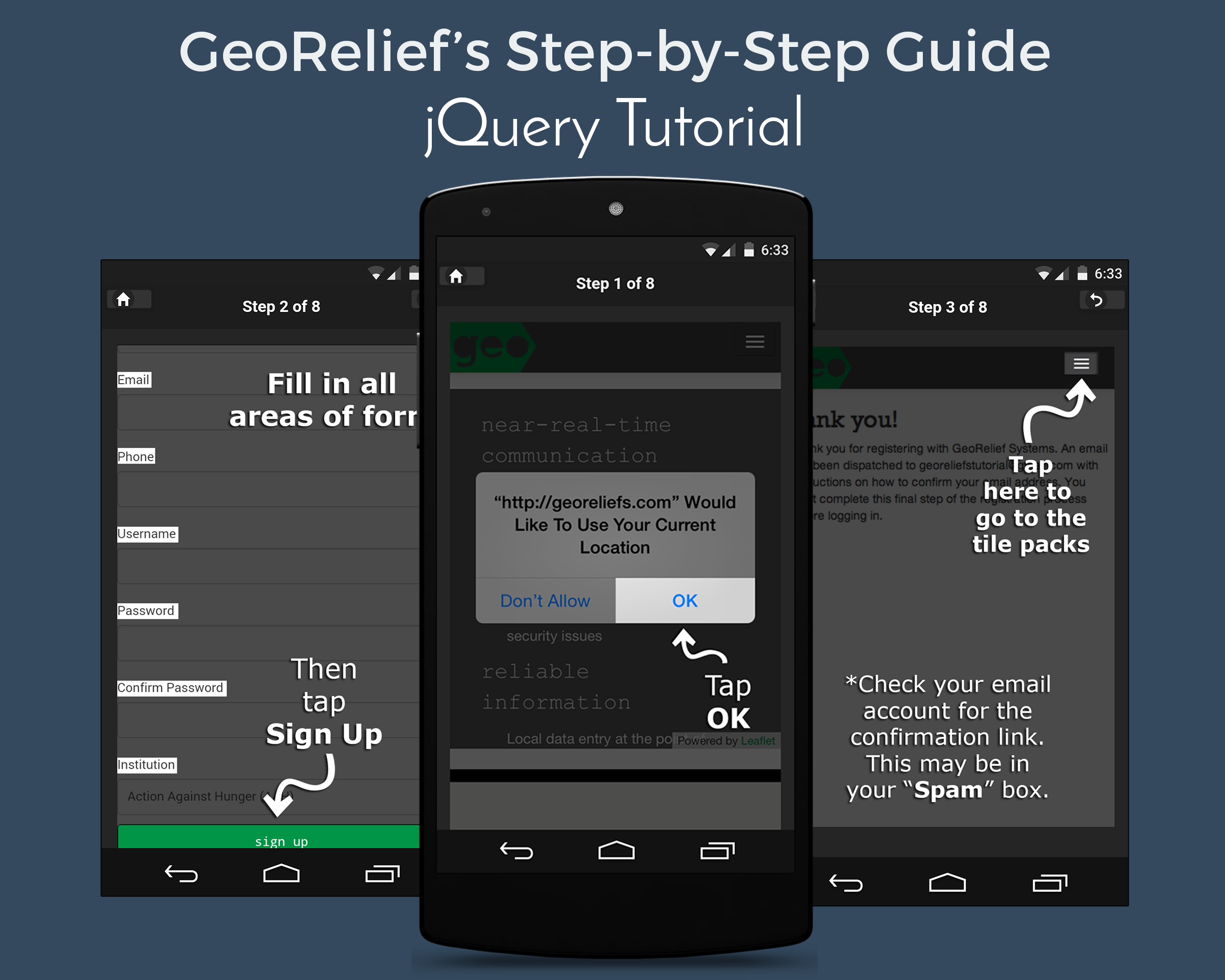 GeoReliefs Step-by-Step Guide
