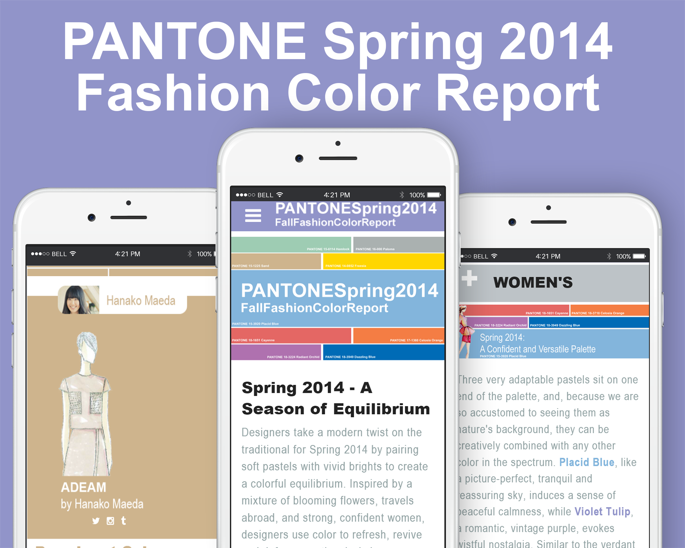Pantone Spring 2014 - Fashion Color Report